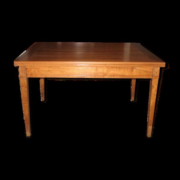 Selency Table Directoire dépliante en noyer XIXème