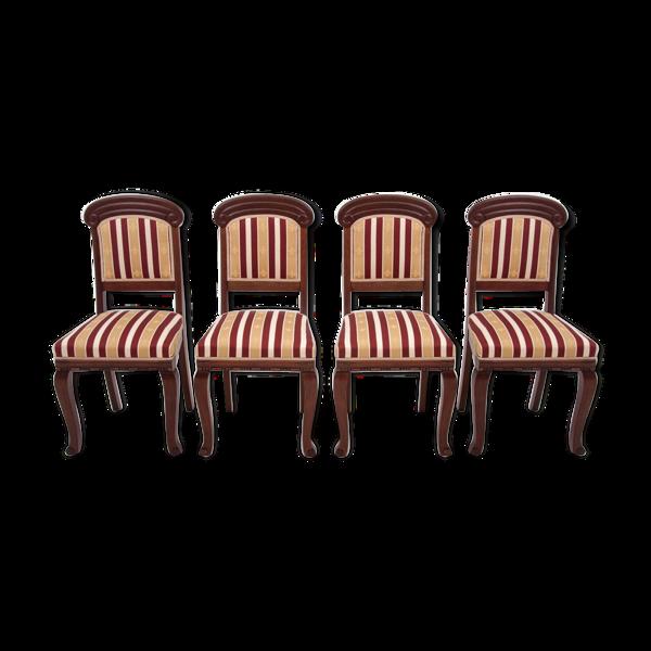 Selency Quatre chaises Biedermeier datant des environs de 1900