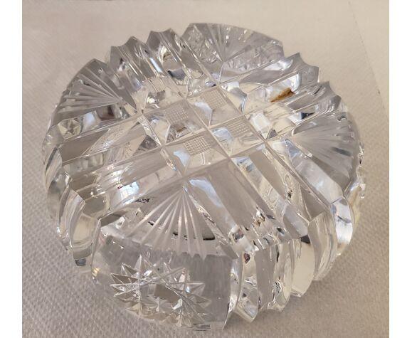 Cendrier en cristal ciselé 70's