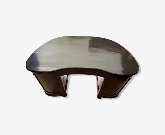 Bureau forme rognon en bois exotique