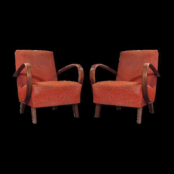 Paire de fauteuils Jind?ich Halabala Modèle 410