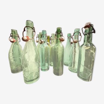 Lot 12 Bouteilles 50cl verre fabrique bières 1930'