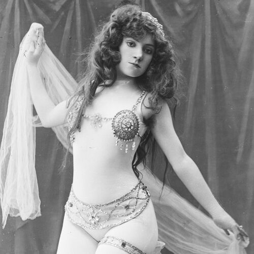 Photo of dancer 1900, barium paper 300g format 30x45