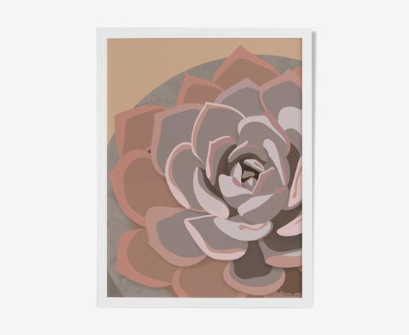 """Illustration """"Succulent #2"""" par Noums Atelier"""