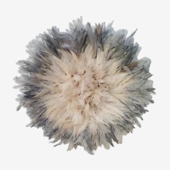 Juju hat blanc contour gris de 35 cm
