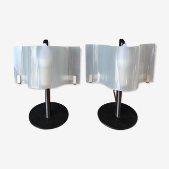 Paire de lampes de chevet 1980