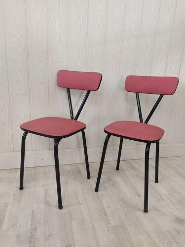 Paire de chaises vintage