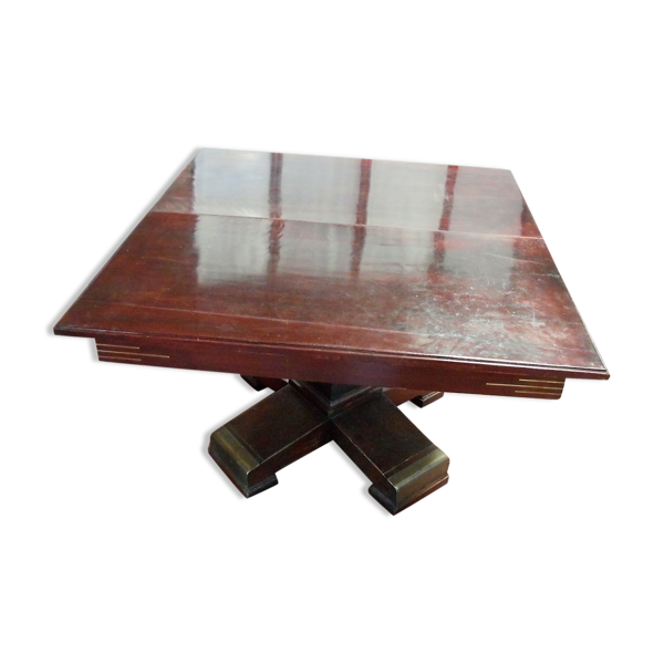 Selency Table extensible art déco en acajou massif