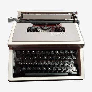 Machine à écrire Underwood 310 vintage années 70'