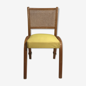 Chaise Steiner Bow Wood cannée