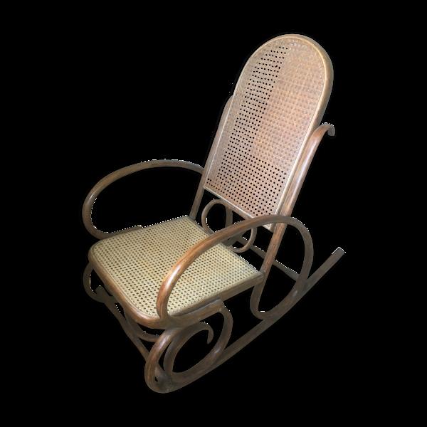 Rocking chair canné et bois courbé