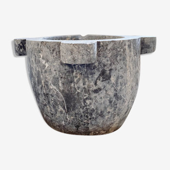 Black marble mortar
