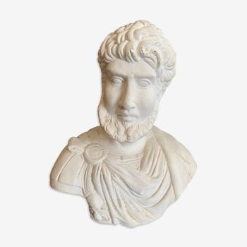 Buste en plâtre empereur grec
