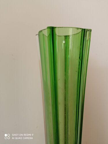 Soliflore vintage 1970 en verre