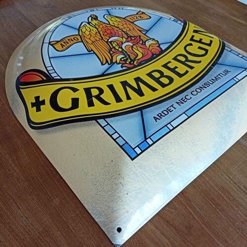 Plaque décorative de bière Grimbergen en métal