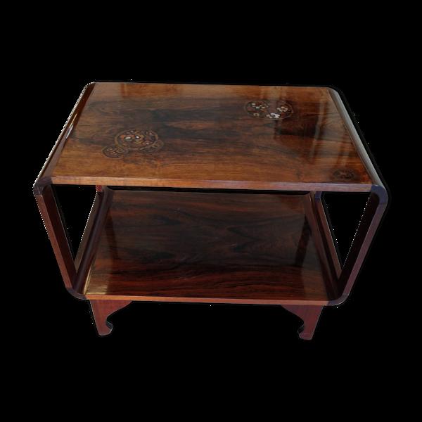 Table basse estampillée de Majorelle époque 1920 marqueterie de palissandre