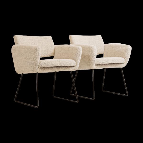 Selency Paire de fauteuils 763 par Joseph André Motte pour Steiner 1950's