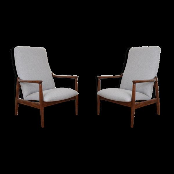 Selency Ensemble de deux fauteuils polonais du milieu du siècle par E. Homa, années 1960