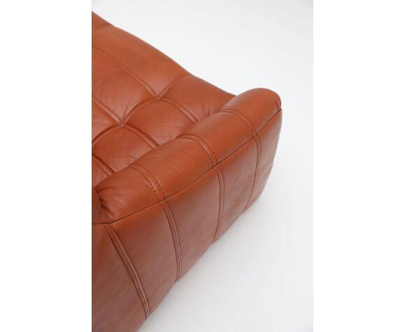 Canapé en cuir Rolf Benz des années 1970