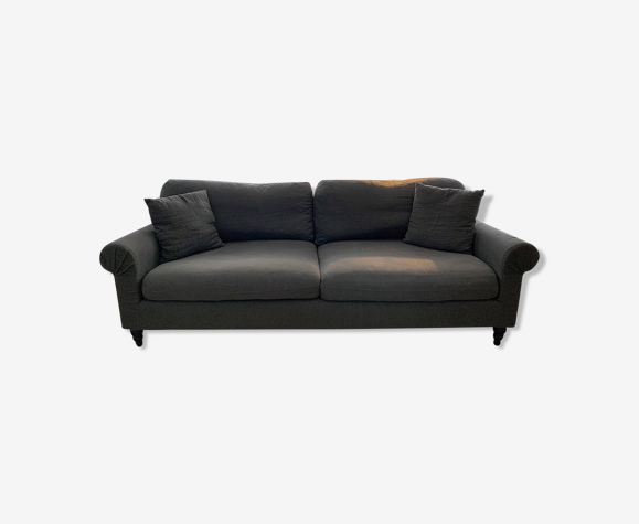 Fixed sofa 4 pl. Gray crumpled linen, AM. PM. The Redoubt