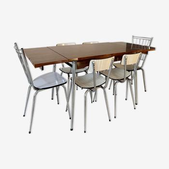 Table en formica & 6 chaises