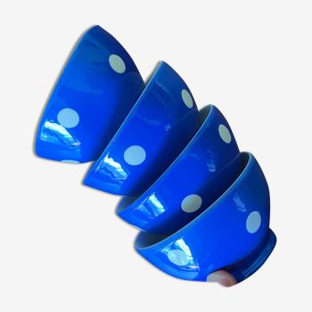 Bols bleus à pois Longchamp
