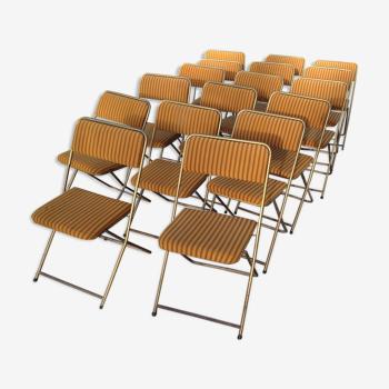 Lot de 17 chaises lafuma