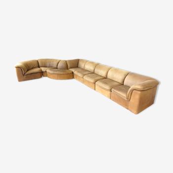Canapé modulaire unique de Laauser en cuir nubuck