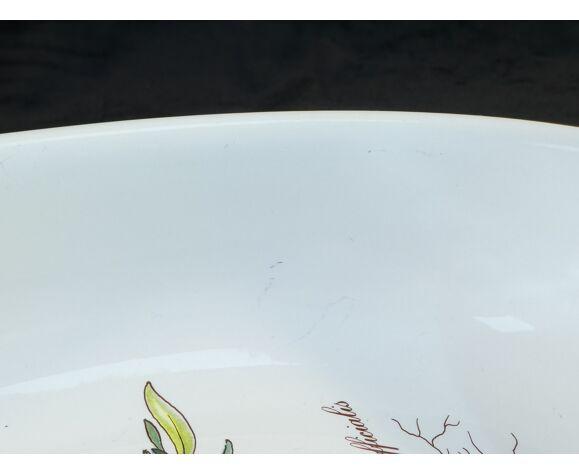 Plat ovale creux Villeroy et Boch modele botanica