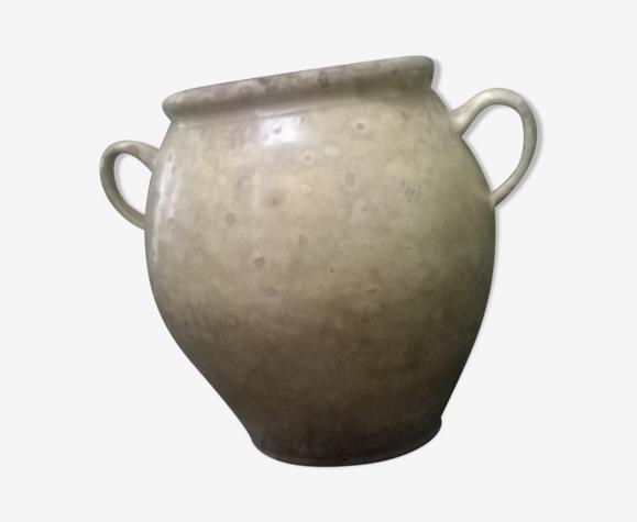 Pot à graisse en terre cuite vernissée du sud ouest 19ème