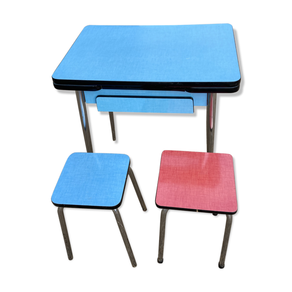 Table formica et 2 tabourets