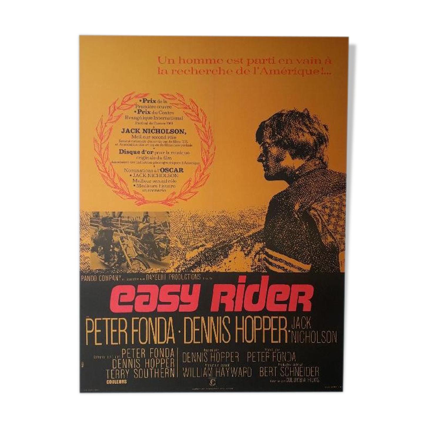 Affiche cinéma «Easy Rider» Dennis Hopper, Peter Fonda 60x80cm 1970