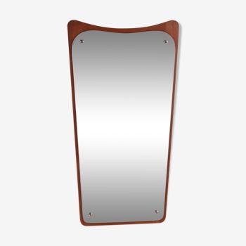 Miroir danois en teck 32x60cm