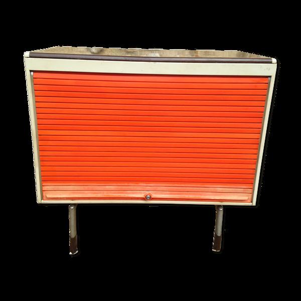 Meuble de rangement vintage de style industriel par Strafor années 70