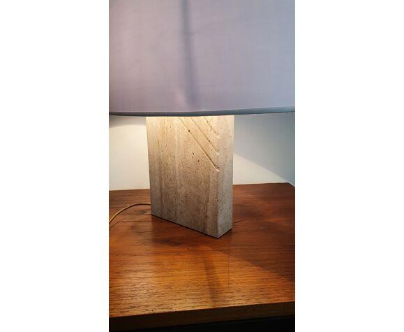 Lampe vintage en travertin