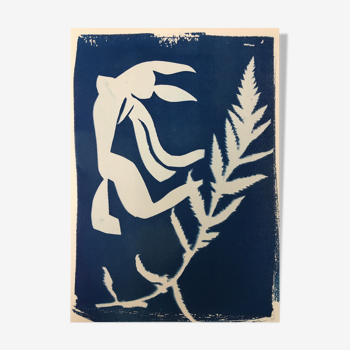 Cyanotype abstrait