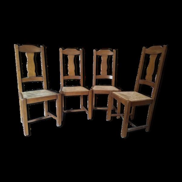 Lot de chaises de ferme années 60