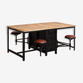 Table atelier manguier 180cm