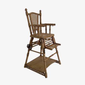 Chaise haute enfant vintage 1950