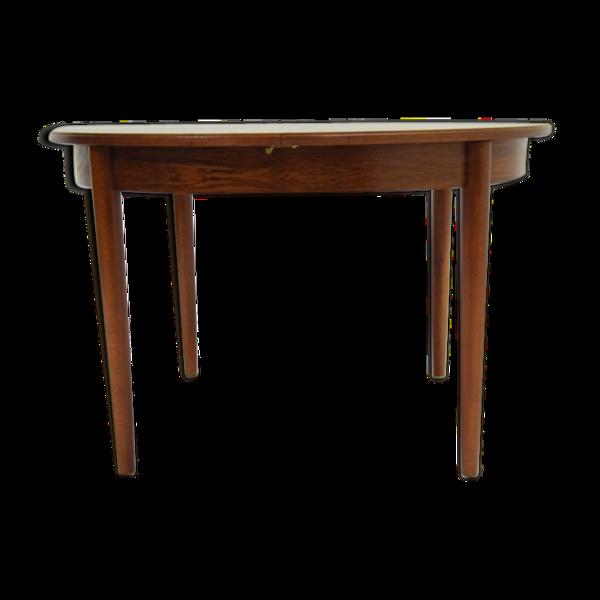 Table de salle à manger en palissandre vintage design années 60 / 70