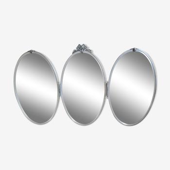 Miroir triptyque des années 50 - 113x66cm