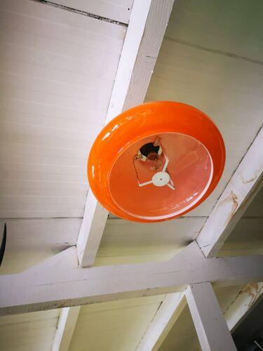 Suspension opaline orange vintage