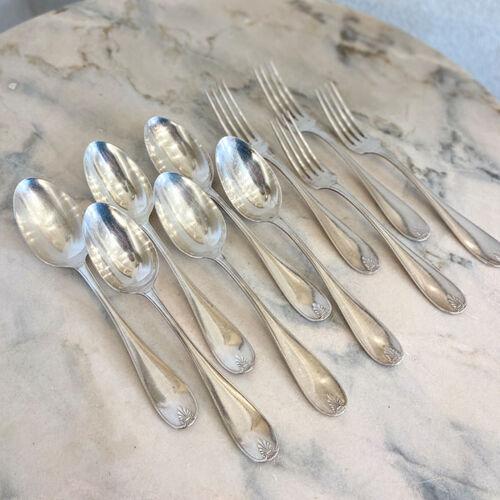 Cuillères et fourchettes métal argenté