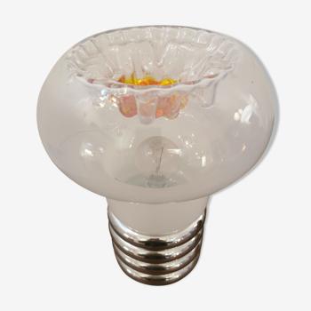 Lampe de table Space Age en verre de Murano par Mazzega