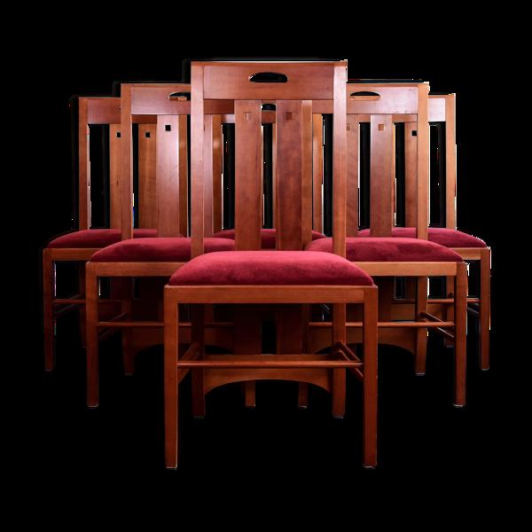 Ensemble de 6 chaises ingram conçues par Charles Rennie Mckintosh