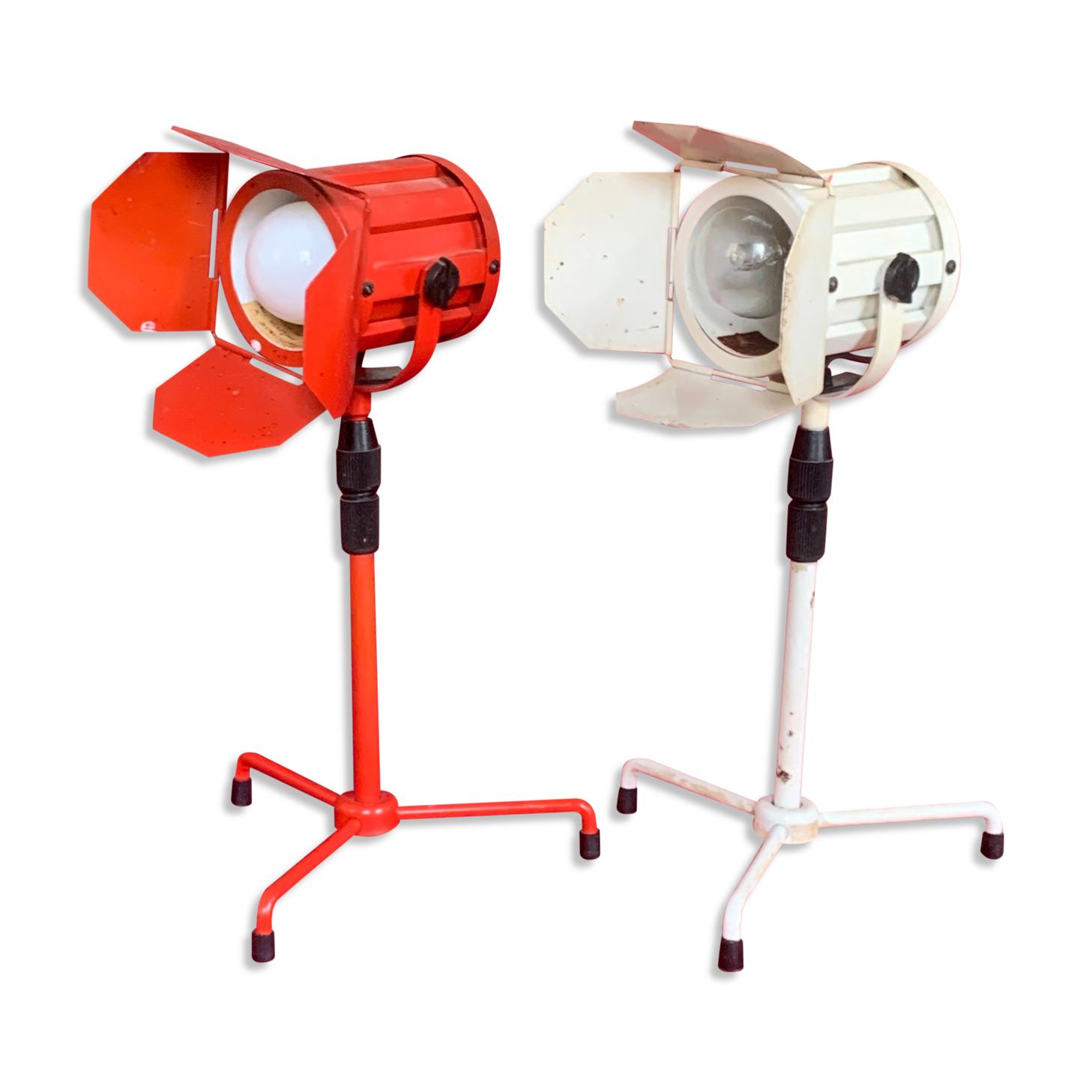 Set de 2 lampes projecteur de cinéma