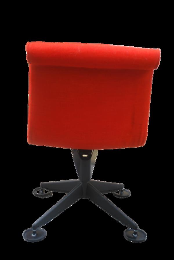 Paire de chaises des années 1980 orange