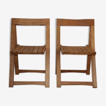 2 chaises pliantes