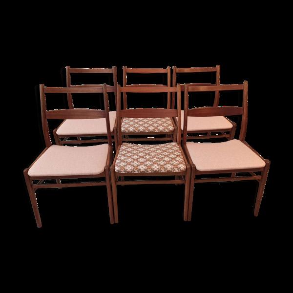 Selency Lot de 6 chaises scandinaves vintage