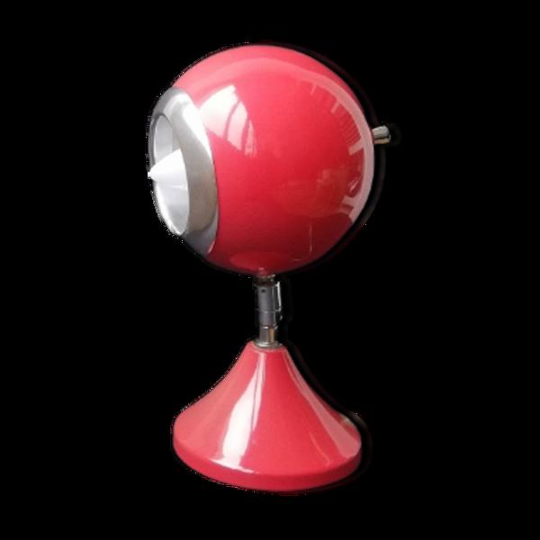Lampe de table de bureau articulée vintage 70s space age eyeball rouge